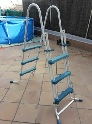 piscina escalera de segunda mano en wallapop