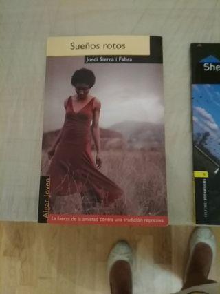 Libros de lectura de distintos cursos de instituto