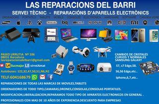 Reparación consolas,tv,portátiles,móviles.etc..