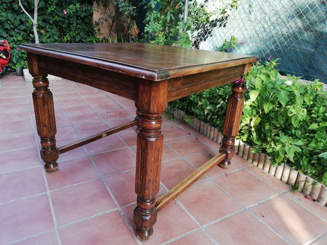 Mesa comedor antigua de madera de segunda mano por 80 € en Rivas ...