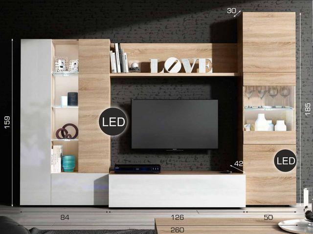 Composición mueble moderno de TV salón comedor de segunda mano por ...