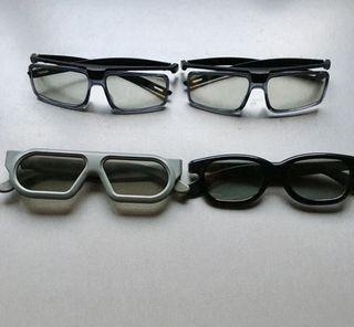 4 gafas 3D