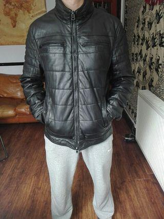 """zara"" black leather jacket"