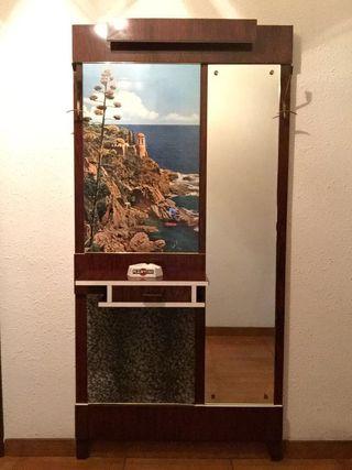 Mueble recibidor con espejo años 70
