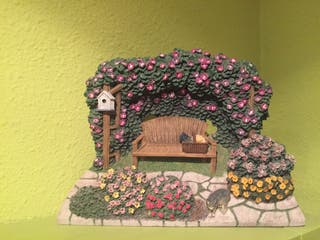 Casa de ceramica adorno