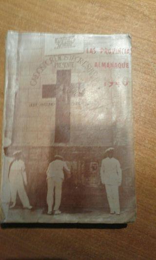 libro almanaque antiguo