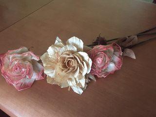 Flores artificiales secas