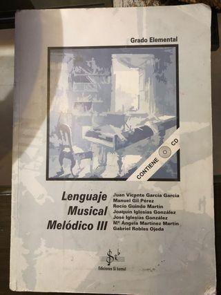 Libro Lenguaje Musical Melódico III