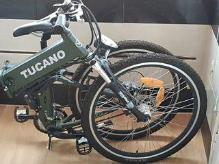 Bicicleta eléctrica plegable de montaña.