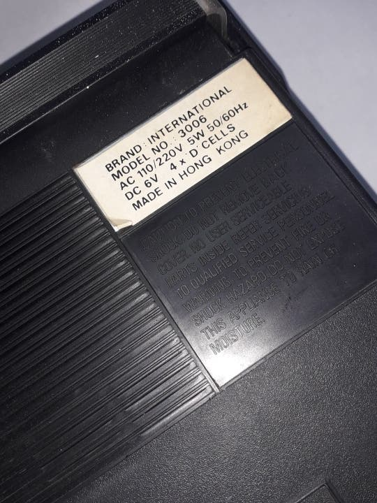 Antigua Radio Cassette INTERNATIONAL recorder.