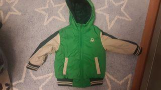 chaqueta REVERSIBLE BENETTON talla 2 años