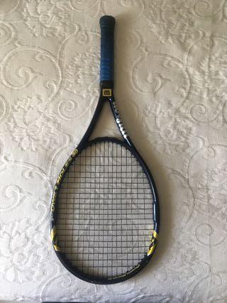 Raqueta tenis wilson holes 80