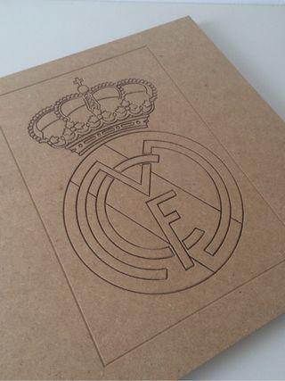 Escudo Real Madrid de madera