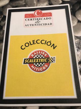 Scalextric certificado rallies miticos
