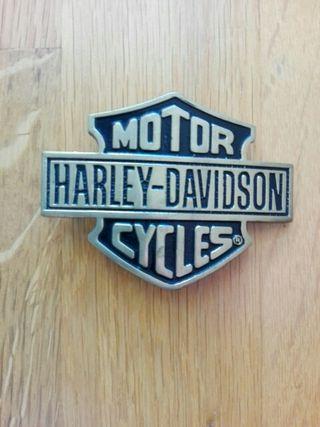 Evilla cinturón Harley Davidson dorada y negra