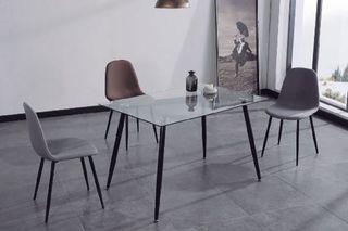 Mesa comedor suecia cristal 120cm