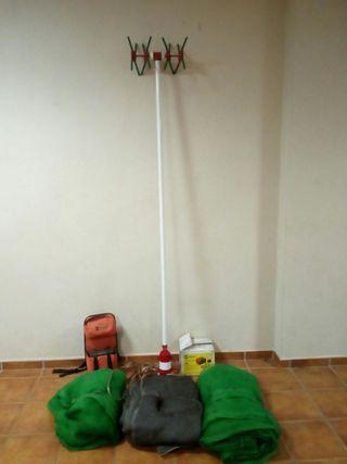 Maquina de coger aceitunas con accesorio
