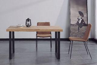 Mesa comedor industrial pata negra 140cm
