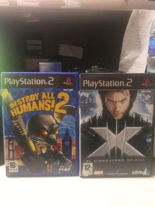 Destroy all humans 2 y X-Men Ps2