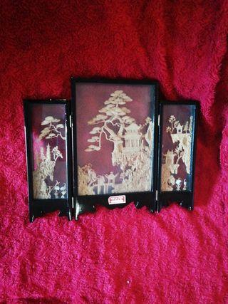 Tríptico diorama vitrinas