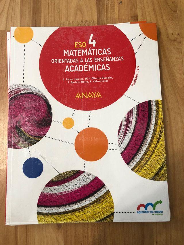 Libro matemáticas 4 cuarto ESO de segunda mano por 20 € en ...