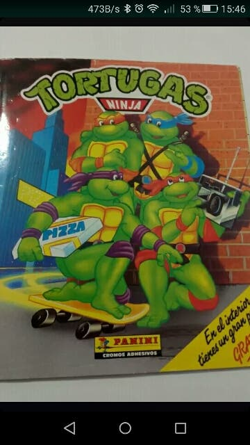 album cromos tortugas ninja