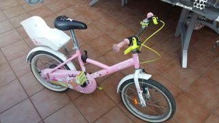 bicicleta niña dos ruedas