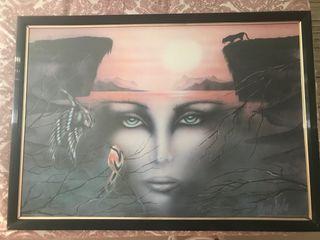 "Cuadro ""La mirada"" de Yves Dulac"