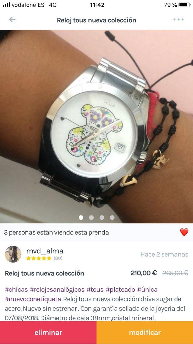 Reloj Tous Nuevo A Estrenar De Segunda Mano Por 199  U20ac En