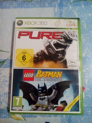 batman the videogame y pure. Xbox 360.