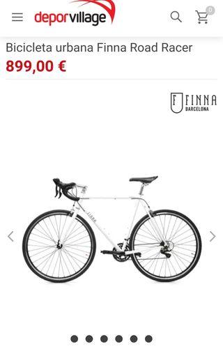 Bicicleta Carretera FINNA Road Racer Pearl White