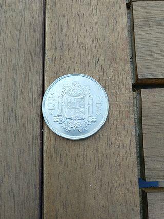 moneda 100 pesetas Juan Carlos 1975