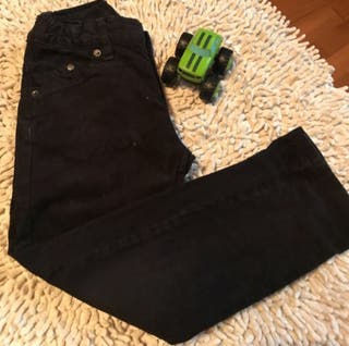 Pantalón pana niño color negro