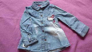 Camisa tejana niña Hello kitty talla 80