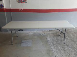 mesa plegable maletín 242 x 76 x 73,5 cm plástico