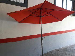 parasol jardín 2.10 mts. con manivela