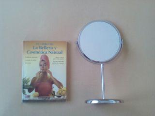 Espejo tocador+Libro de Salud y Cosmética Natural