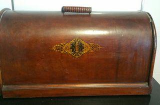 Funda de madera máquina de coser singer