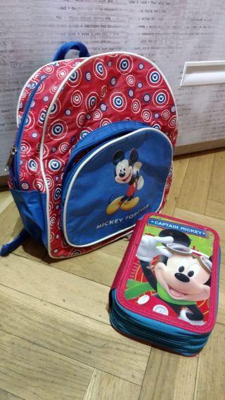estuche y cartera de Mickey