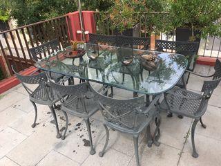 Sillas de hierro de segunda mano en barcelona en wallapop for Mesas y sillas de jardin segunda mano