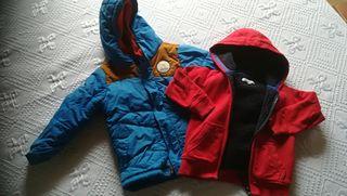 chaqueta nieve y sudadera con forro 3-4años