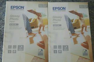 2 cajas papel fotográfico Epson 10×15