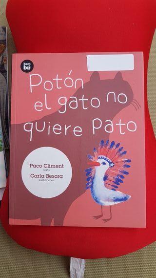 Libro Poton el gato no quiere pato