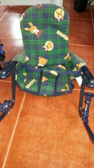 lote 2 mochilas porta bebes +silla mesa