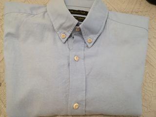 camisa massimo dutty azul oxford talla m slim fit