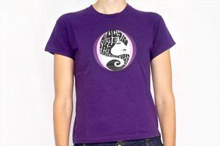 Camiseta Morada Pop