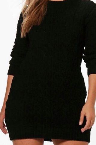 Brand new Boohoo women's black jumper dress