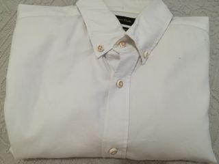 camisa massimo dutty blanca talla m slim fit