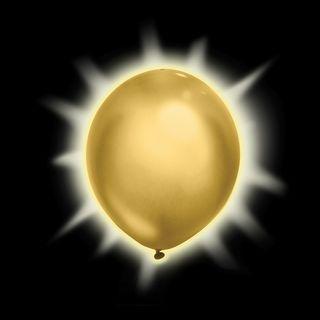 globos luminosos dorados