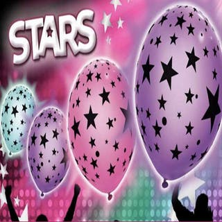 5 globos luminosos estrellas